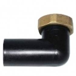 CODULO PVC CURVO DADO OTT 5/4 NERO